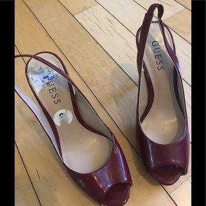 """Guess maroon 4.5"""" heels"""
